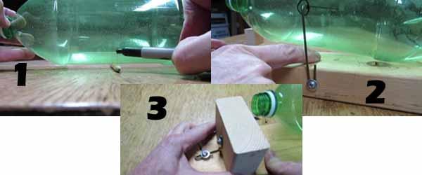 Trampas para ratones con botellas